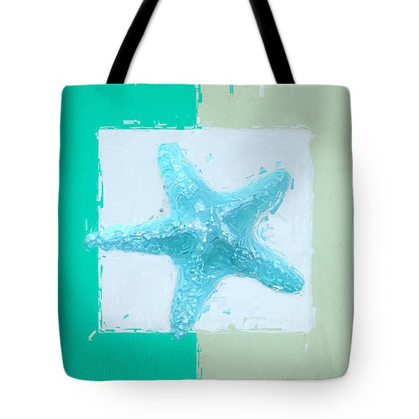 Turquoise Seashells XIII Tote Bag by Lourry Legarde