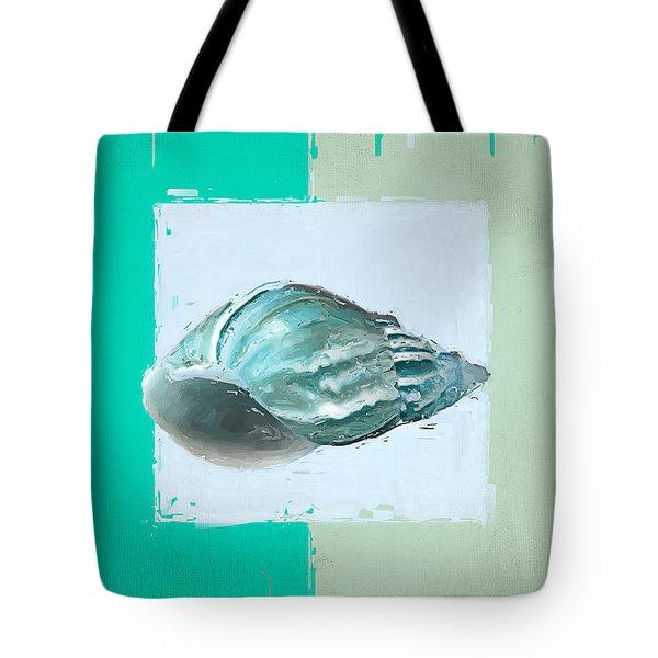 Turquoise Seashells XIV Tote Bag by Lourry Legarde