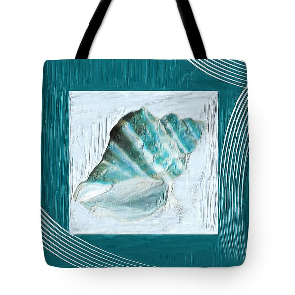 Turquoise Seashells Xxii Tote Bag by Lourry Legarde