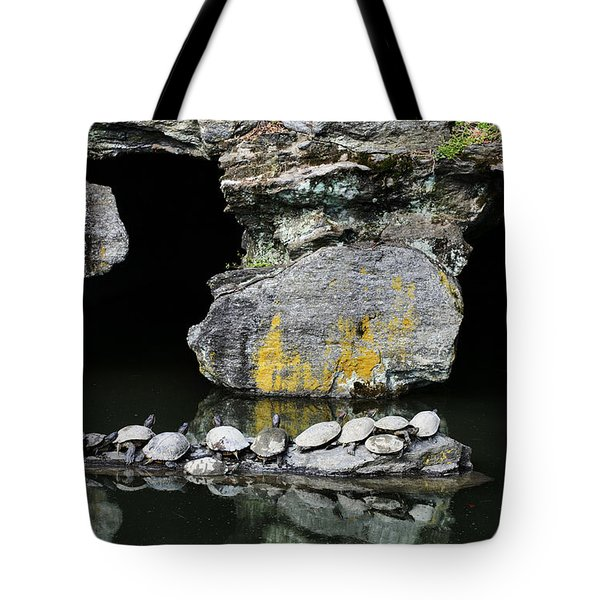 Turtle Caves Tote Bag by JC Findley