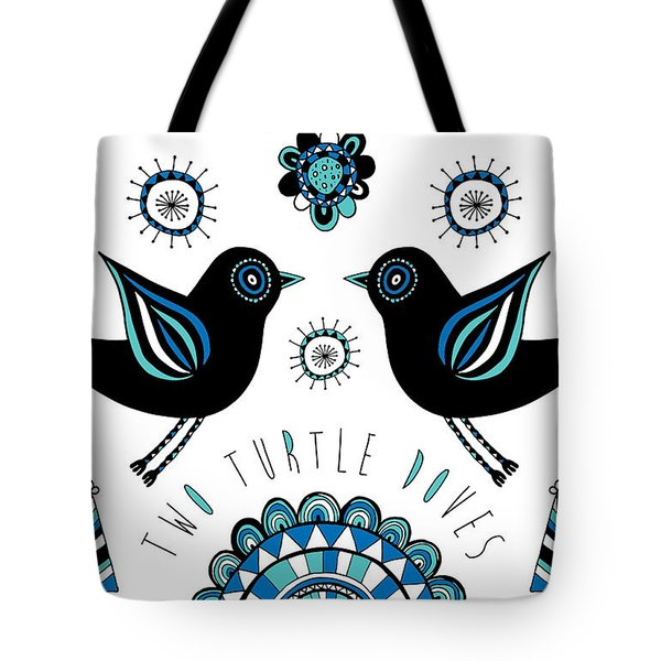 Turtle Dove Tote Bag by Susan Claire