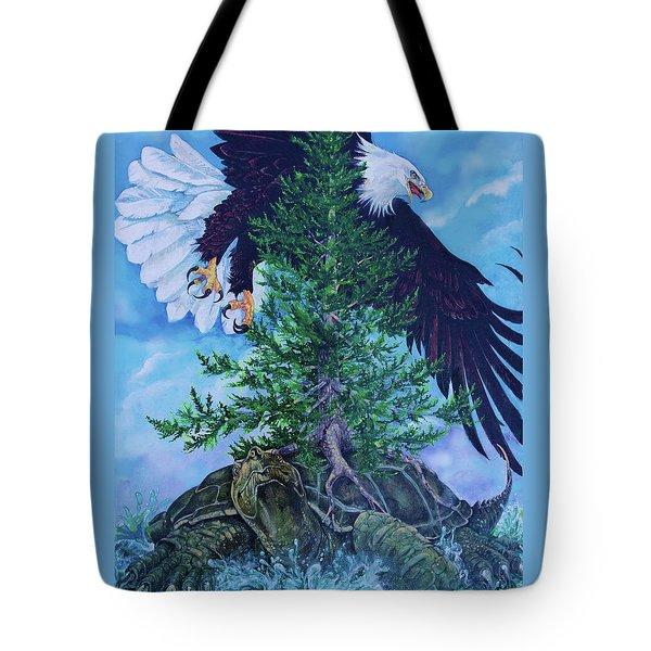 Turtle Island Tote Bag by Derrick Higgins