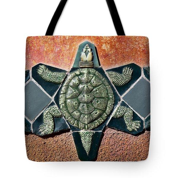 Turtle Mosaic Tote Bag by Carol Leigh