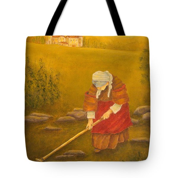 Tuscan Farmhouse At Sunset Tote Bag by Pamela Allegretto