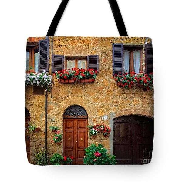 Tuscan Homes Tote Bag by Inge Johnsson