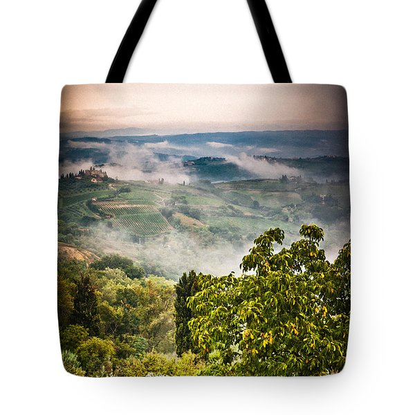 Tuscan View Tote Bag by Silvia Ganora