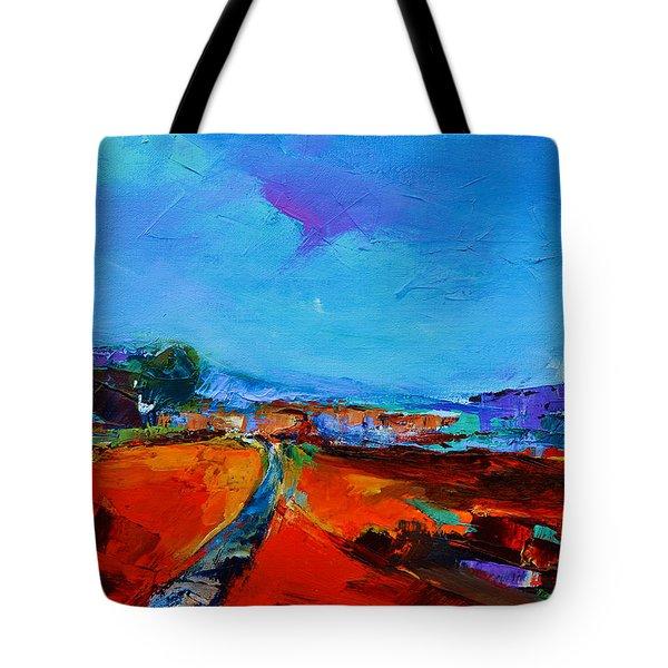 Tuscan Village Tote Bag by Elise Palmigiani