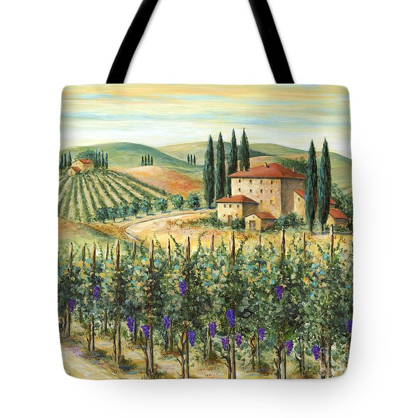 Tuscan Vineyard and Villa Tote Bag by Marilyn Dunlap
