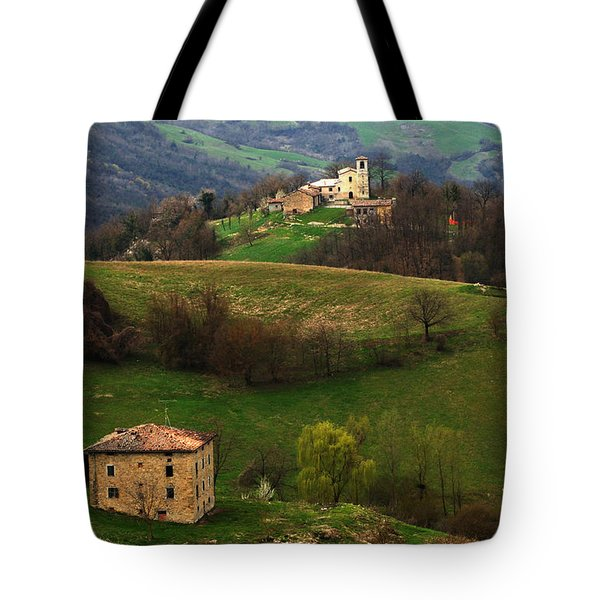 Tuscany Landscape 3 Tote Bag by Bob Christopher