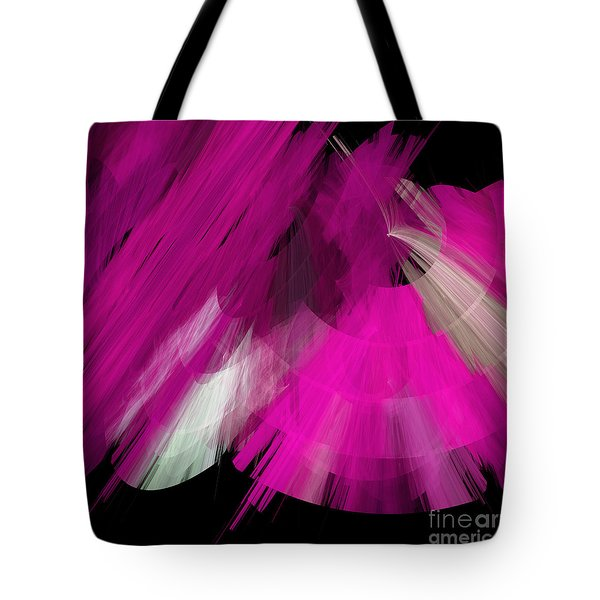 Tutu Stage Left Abstract Fuchsia Tote Bag by Andee Design