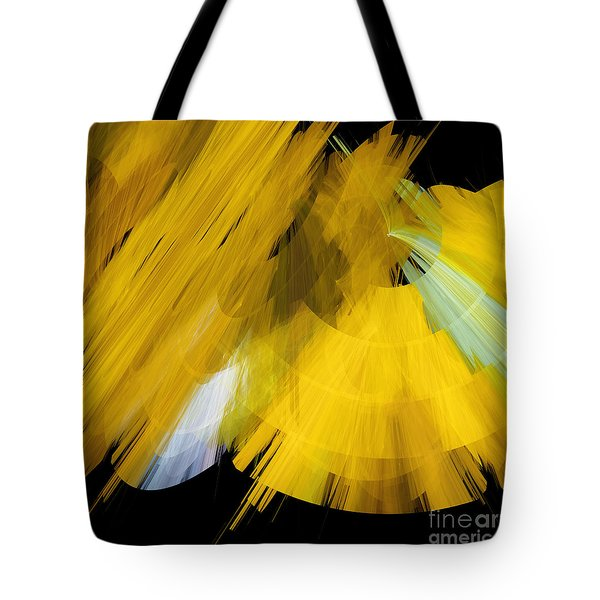 TuTu Stage Left Abstract Yellow Tote Bag by Andee Design