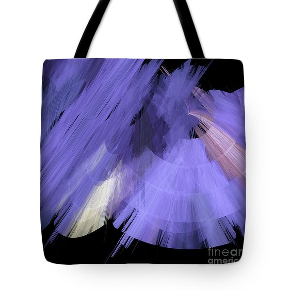 TuTu Stage Left Periwinkle Abstract Tote Bag by Andee Design