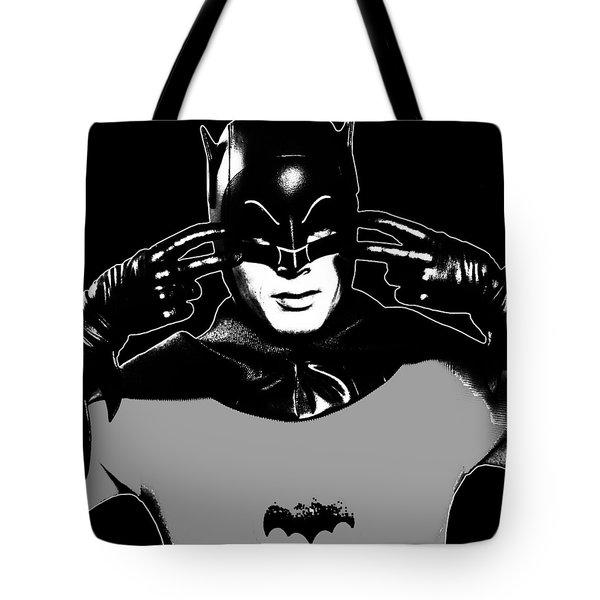 Tv Batman Adam West Tote Bag by Tony Rubino