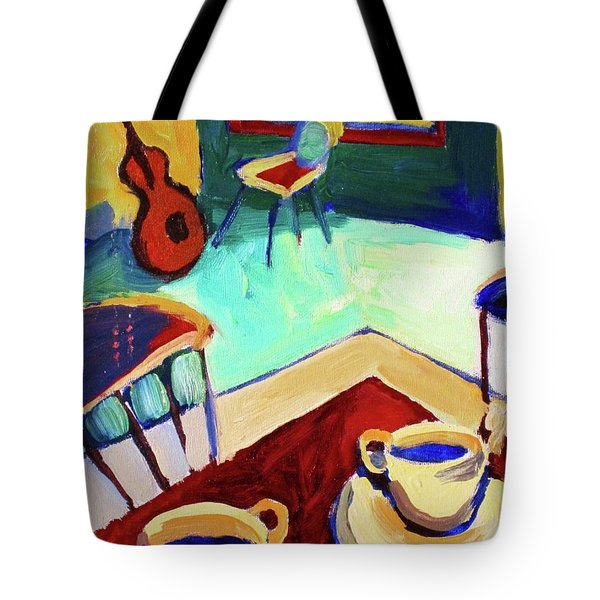 Twilight Coffee Cafe Tote Bag by Frederick  Luff