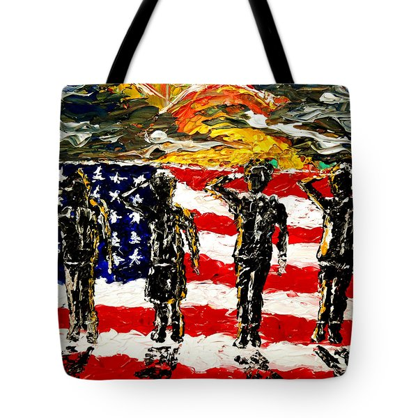 Twilights Last Gleaming Tote Bag by Mark Moore