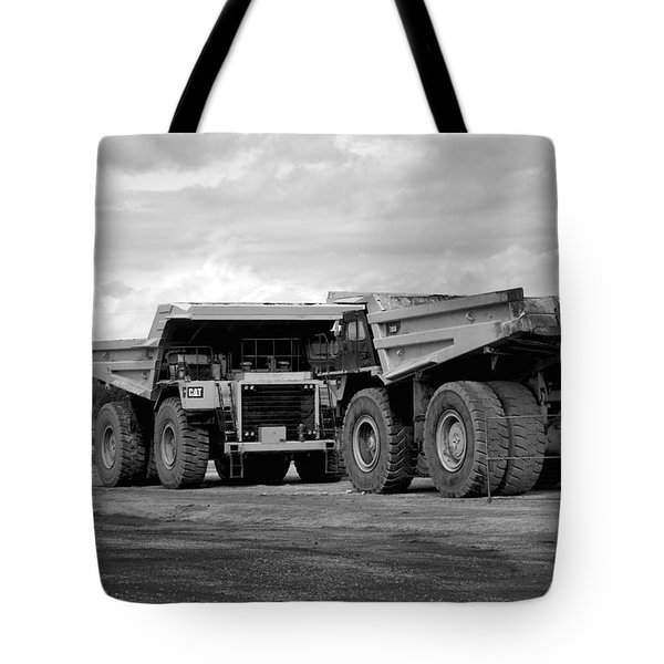 Twin Caterpillar Trucks Tote Bag by Alanna DPhoto