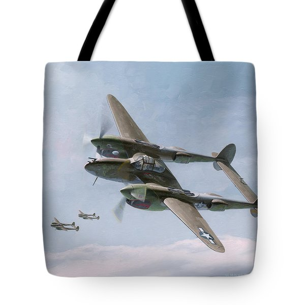 Twin-tailed Dragons Tote Bag by Wade Meyers