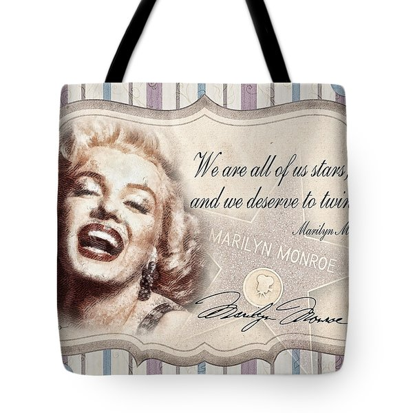Twinkle Little Star Tote Bag by Mo T