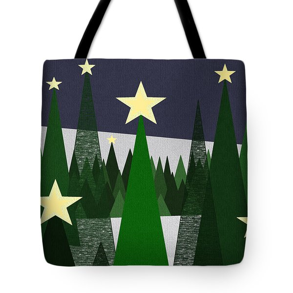 Twinkling Forest Tote Bag by Val Arie