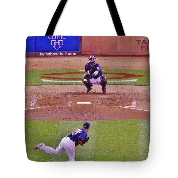 Twins Warm Up Tote Bag by Todd and candice Dailey