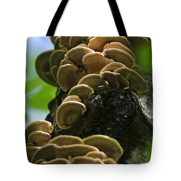 Twist Of Shrooms Tote Bag by Christina Rollo