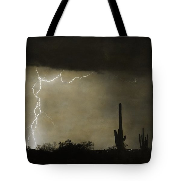 Twisted Desert Lightning Storm Tote Bag by James BO  Insogna