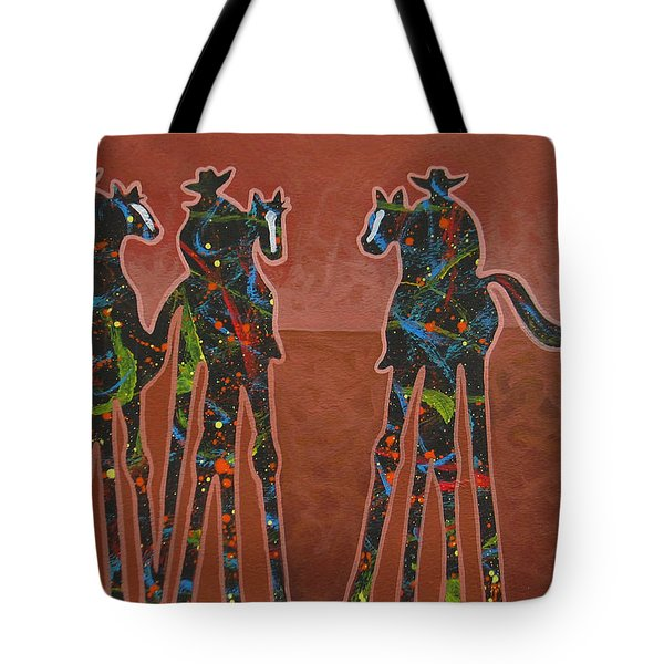 Two Against One Tote Bag by Lance Headlee