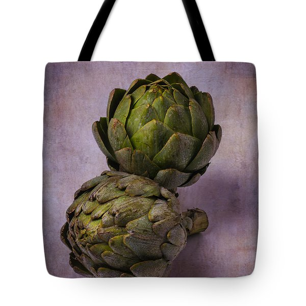 Two Artichokes Tote Bag by Garry Gay