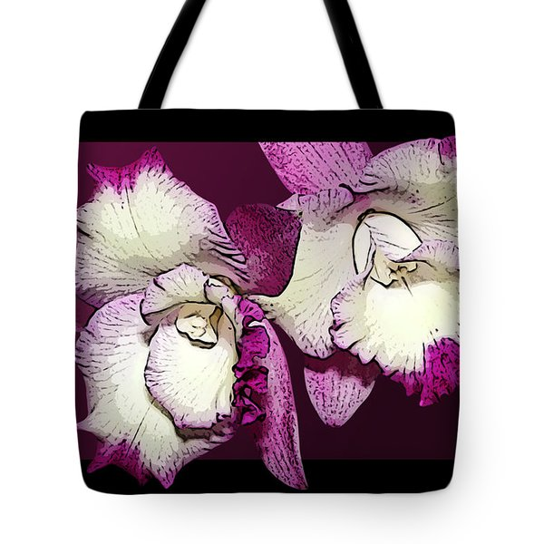Two Baby Orchids Tote Bag by Phyllis Denton