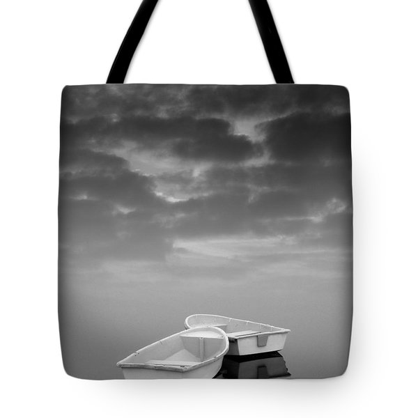 Two Boats and Clouds Tote Bag by David Gordon