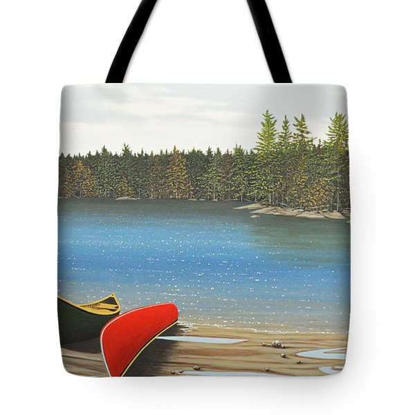 Two Canoes Tote Bag by Kenneth M  Kirsch