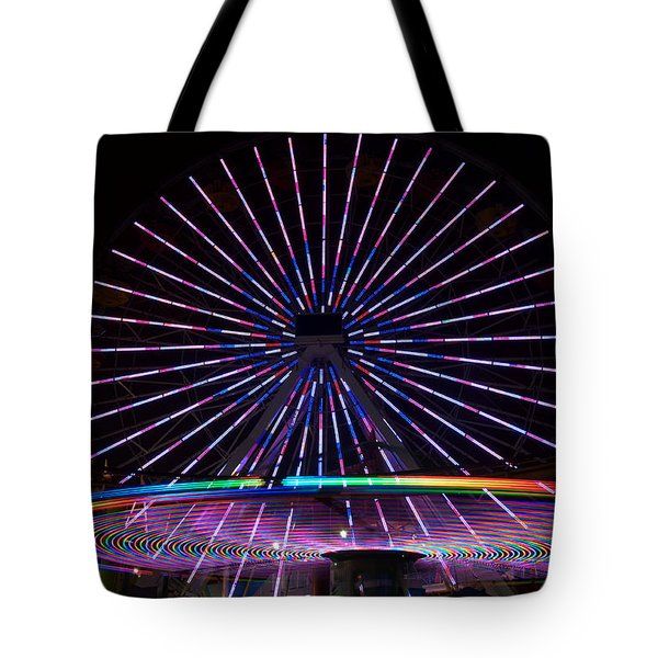 Two Carousels Tote Bag by Gandz Photography