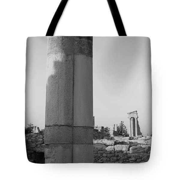 Two Columns At Apollo Sanctuary Tote Bag by Augusta Stylianou