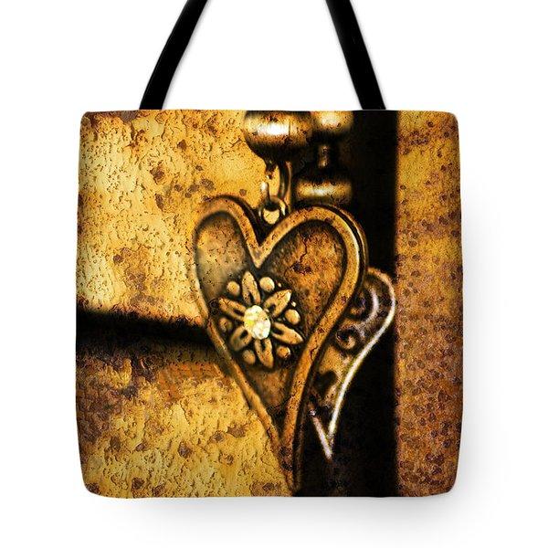 Two Hearts Together Tote Bag by Randi Grace Nilsberg