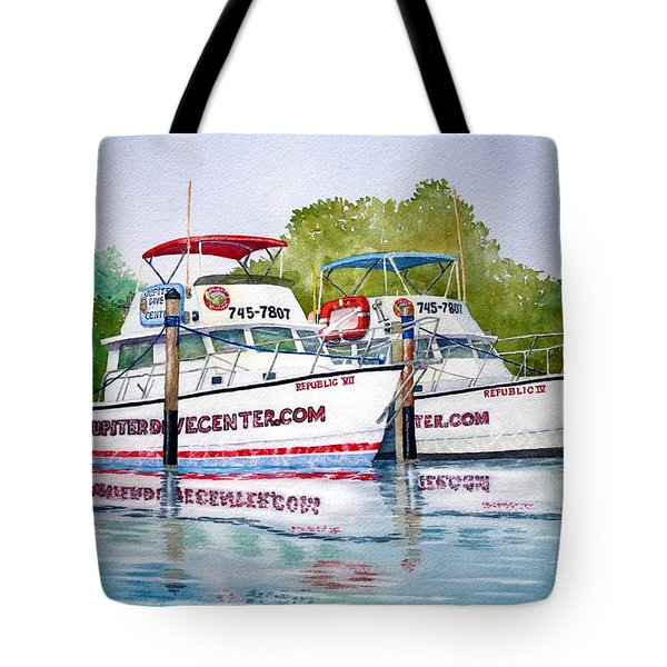 Two If By Sea Tote Bag by Jeff Lucas