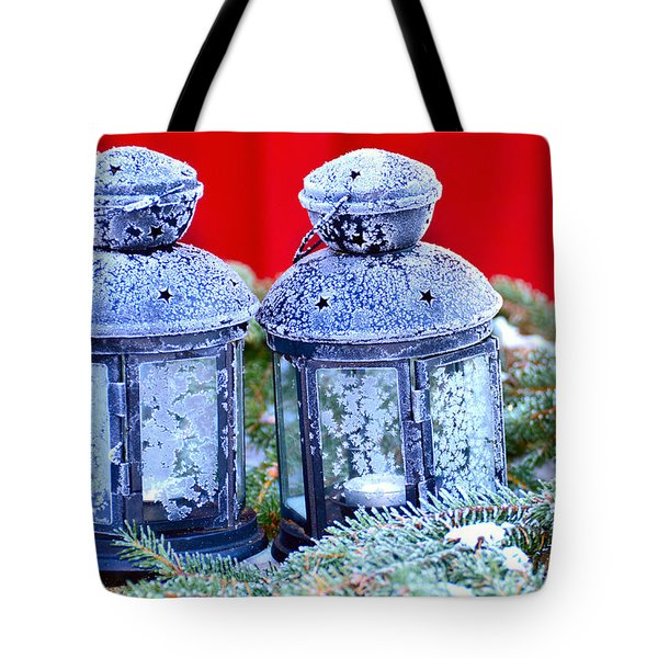 Two Lanterns Frozty Tote Bag by Toppart Sweden
