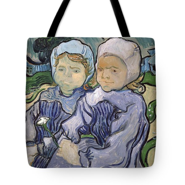 Two Little Girls Tote Bag by Vincent Van Gogh