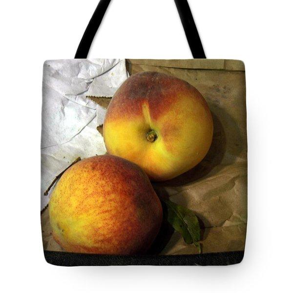 Two Peaches Tote Bag by Miriam Danar
