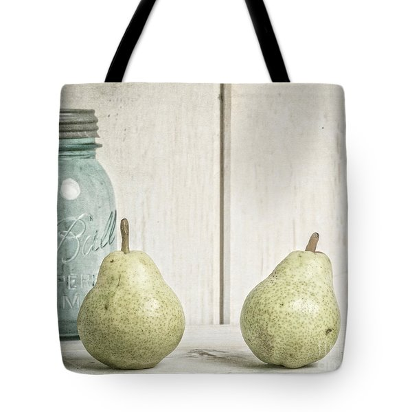 Two Pear Still Life Tote Bag by Edward Fielding