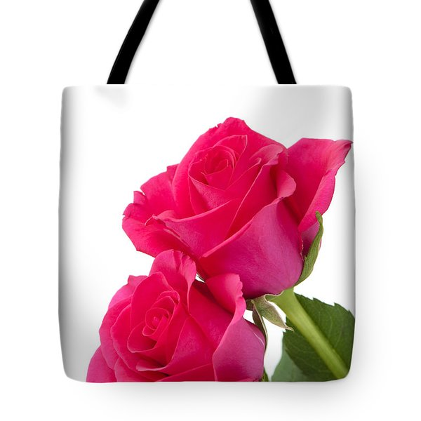 Two Roses Tote Bag by Anne Gilbert