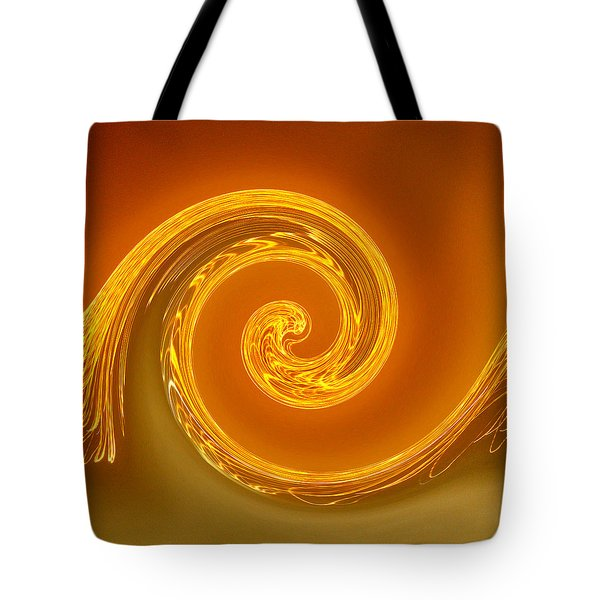 Two-toned Swirl Tote Bag by Art Block Collections