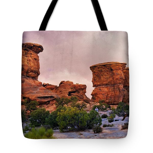 Two Towers Tote Bag by Marty Koch