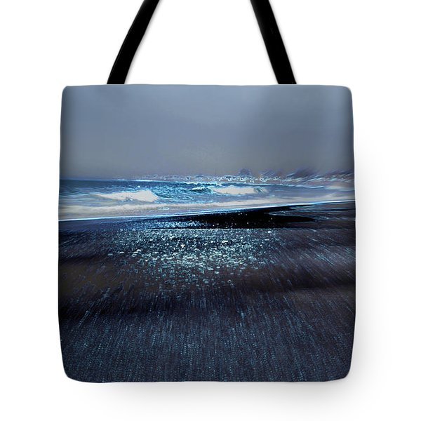 Two Waves Tote Bag by Kathy Bassett