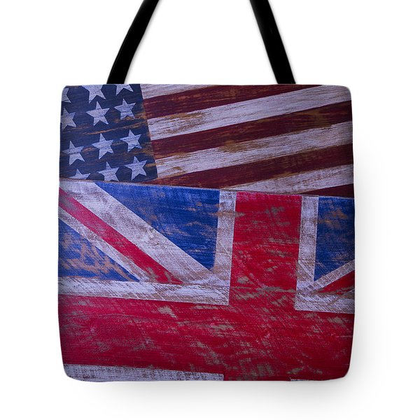 Two Wooden Flags Tote Bag by Garry Gay