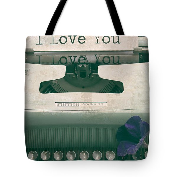 Typewriter Love Tote Bag by Nomad Art And  Design