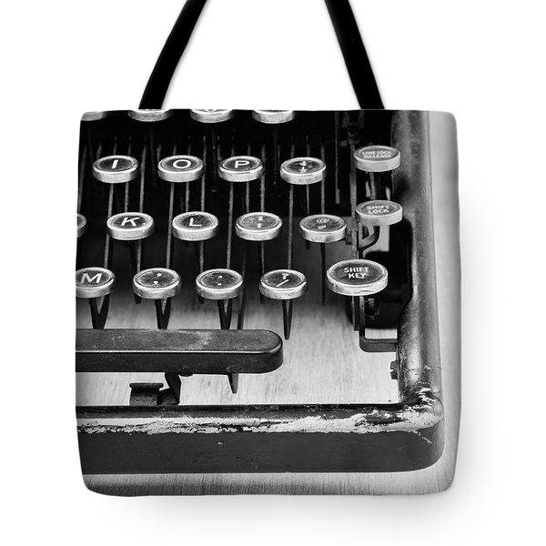 Typewriter Triptych Part 3 Tote Bag by Edward Fielding