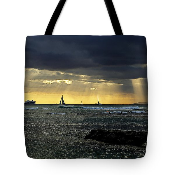 Typical Hawaiian Evening Tote Bag by Cheryl Young