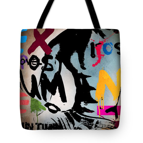 Typography Male  Tote Bag by Mark Ashkenazi