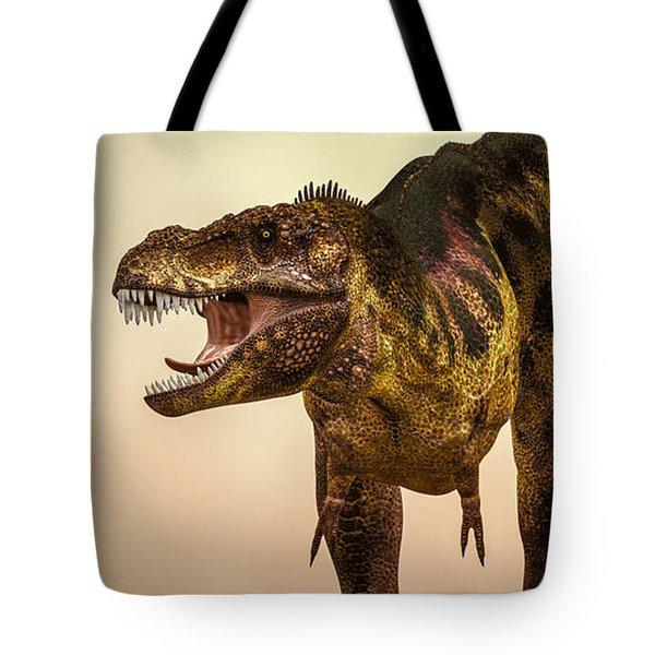 Tyrannosaurus Rex Dinosaur  Tote Bag by Bob Orsillo