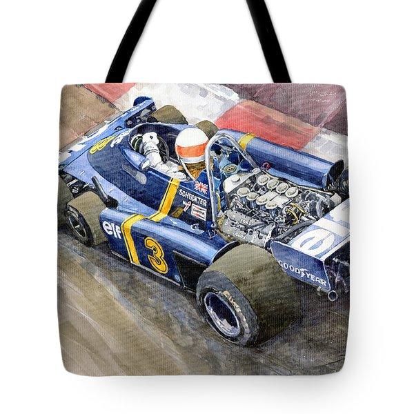 Tyrrell Ford Elf P34 F1 1976 Monaco Gp Jody Scheckter Tote Bag by Yuriy  Shevchuk